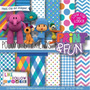 Kit Digital Editavel Scrapbook Pocoyo E Amigos