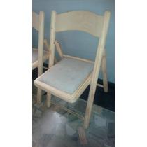 Quatro Cadeiras Cadeira Madeira Crua Dobrável Com Estofado