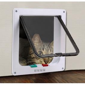 Portas Para Gatos Cachorros 4 Em 1 Pet Door 18x19cm Passagem
