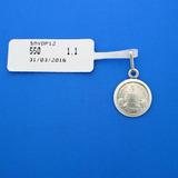 Medalla Virgen Divina Pastora Plata Ley 925 De 12mm Smvdp12