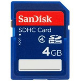 Sandisk 4gb Class 4 Sdhc Memoria Flash Card-sdsdb-004g-b35 (