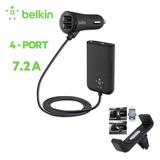 Carregador Veicular Belkin 36w 7,2 Amp 4 Portas Usb Uber Tax