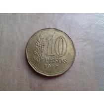 Moneda Argentina De 10 Pesos 1977 Muy Linda Conmemorativa ++