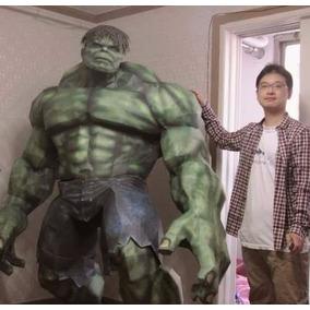 Incrível Hulk Tamanho Real Papercraft ( 2 Metros )+extras