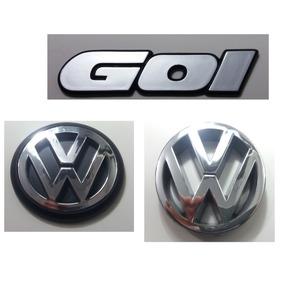 Kit Emblemas Volkswagen Gol Quadrado Vw Mala E Grade 90 À 97