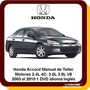Honda Accord Manual Taller Reparacion Diagrama 03 A 2010 Dvd