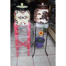 Dispensador Porta Garrafon De Ceramica Con Llave Para Agua