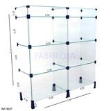 Balcão Em Vidro Modulado Para Loja 1,10x1,00x0,30