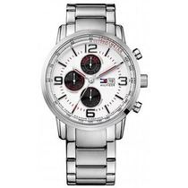 Reloj Tommy Hilfiger 44 Mm Acero Inoxidable Hombre Nuevo