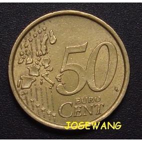 50 Euro Cent, Moneda De Italiana Del Año 2002