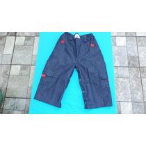 Pantalón Pañalero Para Bebés En Jean.- Talle 2