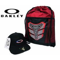 Boné Oakley Brand Preto Usa + Bolsa