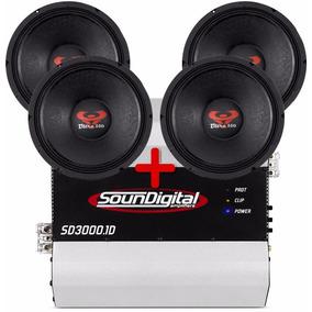 Kit 4 Woofer Ultravox 12 550 Wrms + Modulo Soundigital 3000w