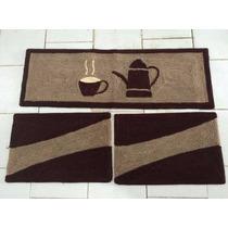 Passadeira De Cozinha 1 Peça Grande Desenhada 1,50m X 50cm