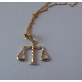 Cadena Con Dije Balanza De La Justicia Abogado Oro 10k