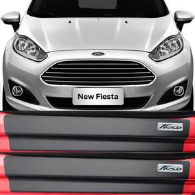 Kit Adesivo Soleira Premium Resinada Porta Ford New Fiesta