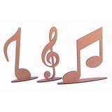 Trio De Nota Musical Mdf Crú - Enfeite - Decoração - Musica