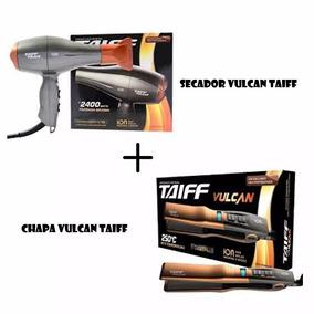 Kit Secador Taiff Vulcan + Chapa Prancha Vulcan Taiff