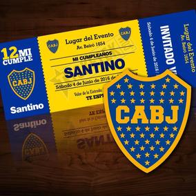 Pack 12 Invitaciones Personalizadas Fútbol / Boca Juniors