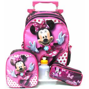 Kit Mochila Infantil Minnie Mouse Lisa Tam G Rodinhas Boleto