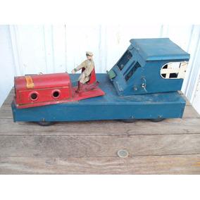 Antiguo Juguete De Chapa Grua Juguetal Industria Argentina