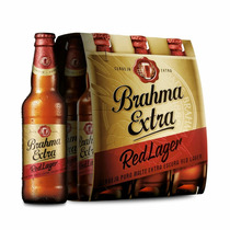 Brahma Extra Red Lager Pack Com 6 Garrafas De 355ml