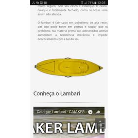 Caiaque Caiker Amarelo 1 Lugar Com Remo E Colete Salva Vidas