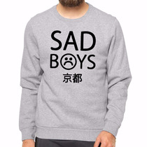 Moletom Unissex Sad Boys Kpop Bts Careca Blusa De Frio