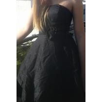 Vestido De Fiesta Negro Usado. Zona Once-congreso