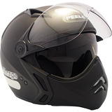 Capacete Moto Peels Mirage Com Viseira Solar Preto Fosco 56