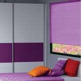 Cortina Persiana En Pvc 110x150 Cm Violeta Iris