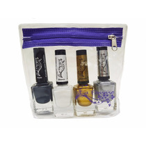 Kit 4 Esmaltes Para Carimbo + Necessarie Exclusiva La Femme