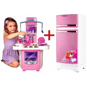 Kit Cozinha Infantil Fogaozinho Big 630 + Geladeira Mágica