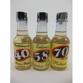 Mini Cachaça Personalizada.- Chá De Bar - 30 Garrafas