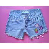 Short Jeans Customizado Patches Tam 36/38 Sandpiper