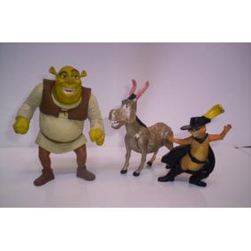Shrek Figuras Burro Y Gato Con Botas