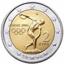 Grecia 2004 Moneda 2 Euros Olimpiadas Atenas Sin Circular