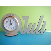 15 Suvenir C/ Reloj Despertador De 11cm Nombre Personalizado