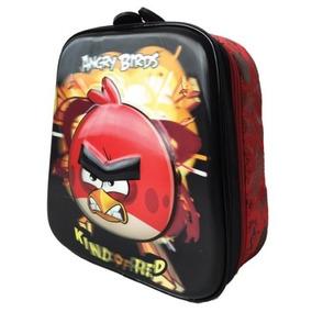 Lancheira Escolar Angry Birds Red Alto Relevo E 3d Sanya