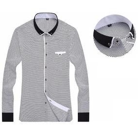 Camisa Social Masculina Manga Longa Importada b2a0f2422bc7a