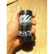 Washi Tape Metalizadas Douradas Novas Cores E Estampas