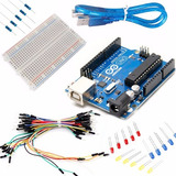 Kit Arduino Uno Starter Proto Cables Led Resistencias Kit15