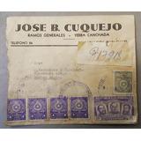 Antiguo Sobre Yerba Canchada Encarnacion Paraguay 1957