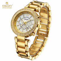 Relógio Kingsky Ky0036 Feminino Ouro Dourado Garantia Origin