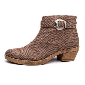 Zapatos Mujer Texanas Vison Con Cierre