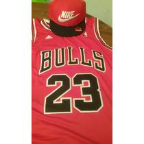 Camiseta Adidas Nba Chicago Bulls Jordan + Gorra Sb