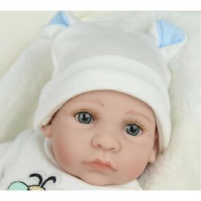 Boneca Realista Bebê Reborn Silicone Super Fofo Frete Fixo