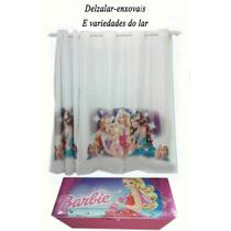 Cortina Da Barbie Com Baú Da Barbie