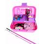 Pesca-kit Feminino Maleta Rosa+molinete+vara1,80m+acessórios