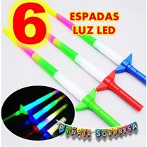 6 Espada Luz Sable Economico Juguete Piñata Fiesta Star Wars